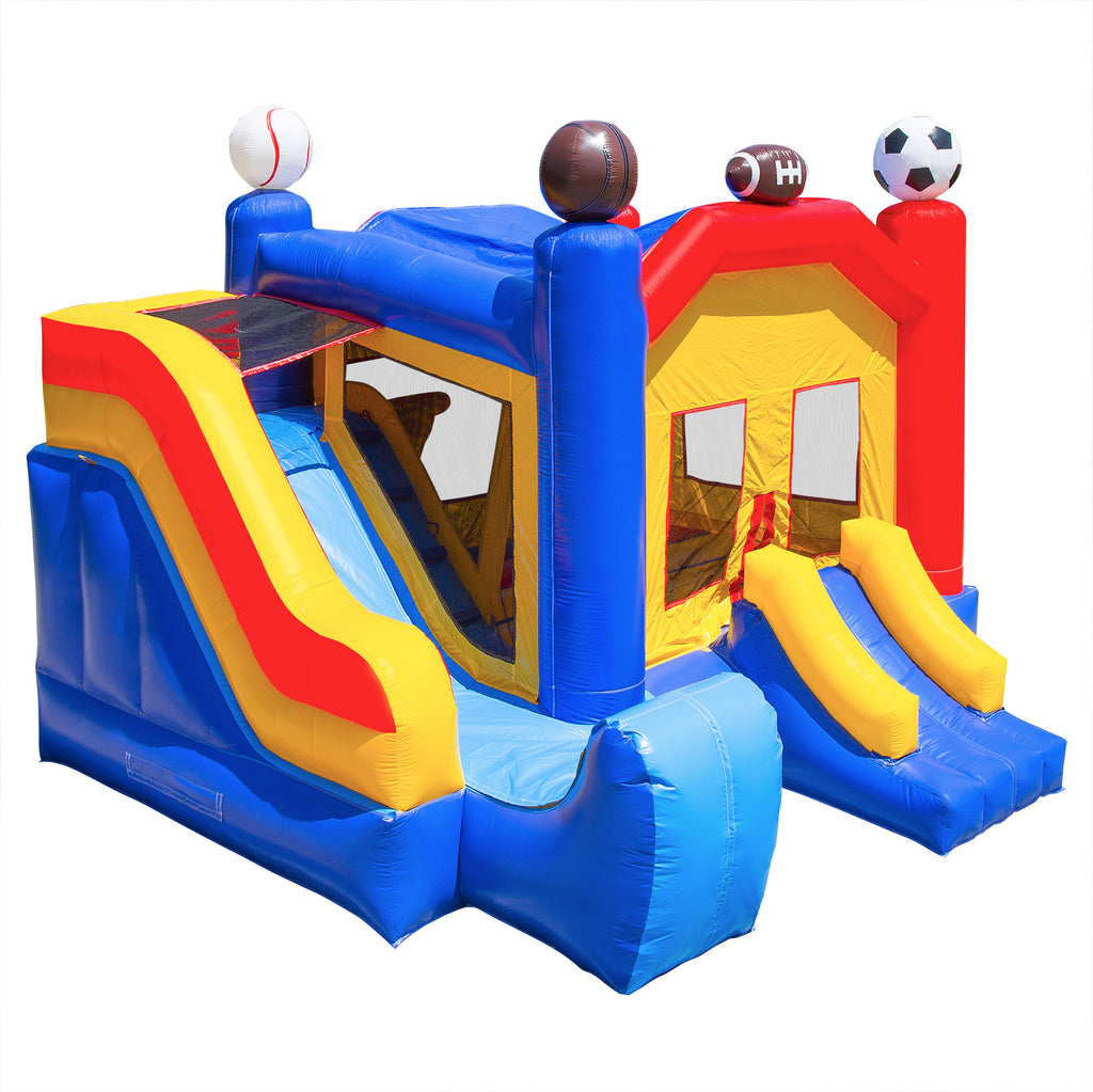 Commercial Grade Bounce House 100% PVC Sports Jump Inflatable Only - mixwholesale.com