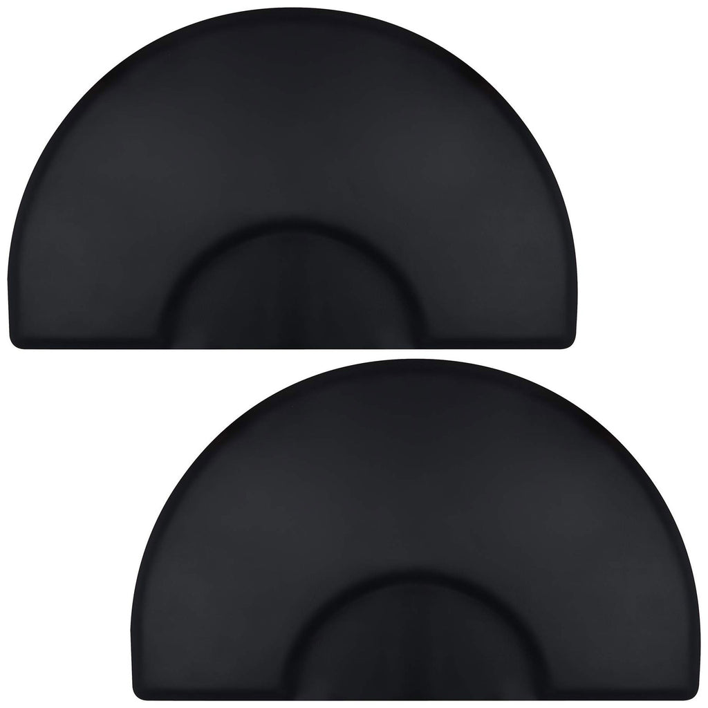 "3' x 5' Semi Circle Anti-Fatigue Salon Chair Floor Mat - 1/2"" Thick - 2 Pack - mixwholesale.com"