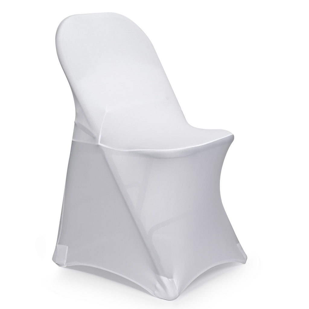 10 Wedding/Party Fitted Stretch Folding Chair Covers - Spandex - Multiple Colors - mixwholesale.com