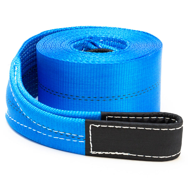 "4"" x 30' Heavy Duty Recovery Winch Tow Loop Strap 4x4 Rope Chain Towing Tow - mixwholesale.com"