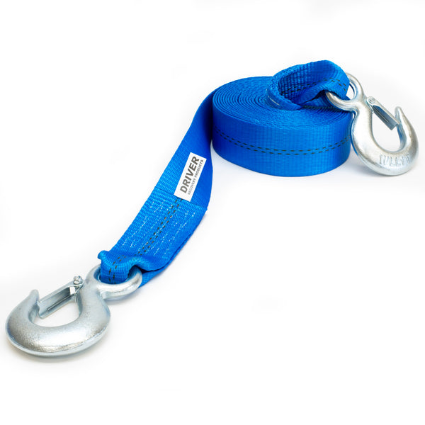 "2"" x 20' Heavy Duty Recovery Winch Tow Strap Hooks Webbing Rope Chain Towing - mixwholesale.com"