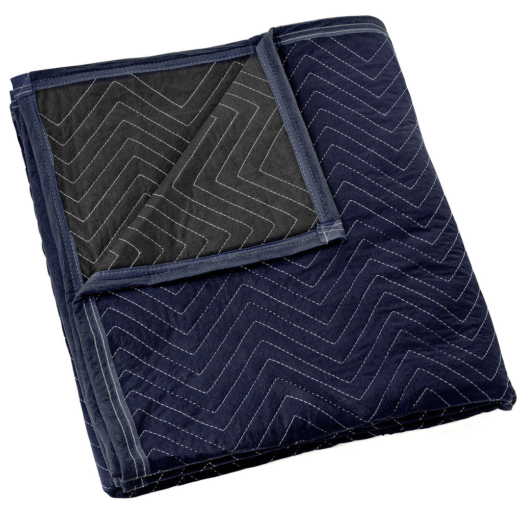 "PROFESSIONAL-GRADE: Oversized, 80"" x 72"" premium quality moving pads in a vibrant dark blue hue provide exceptional damage protection from scratches, nicks, dirt, and moisture when moving or transporting furniture, appliances, and other valuable large items."