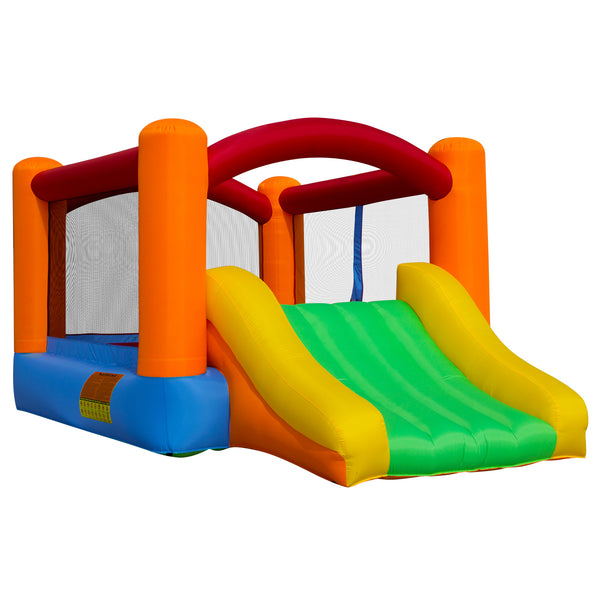 Cloud 9 Bounce House With Slide With Blower - mixwholesale.com