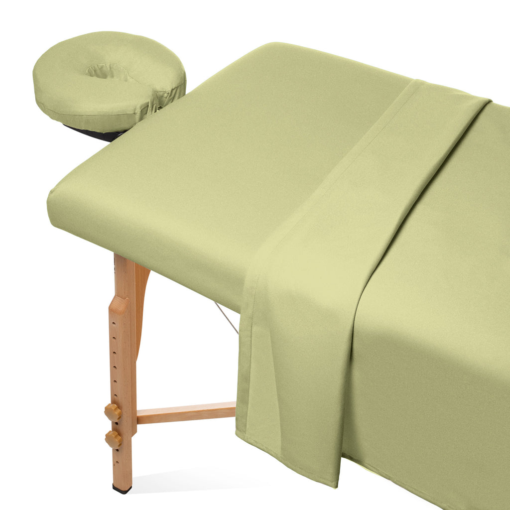 3pc Flannel Massage Table Sheet Set - Cotton Spa Facial Bed Covers - mixwholesale.com