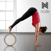 "13"" Pro Yoga Wheel Backbend Stretching Back Roller Ring Circle Prop - Wood Grain - mixwholesale.com"