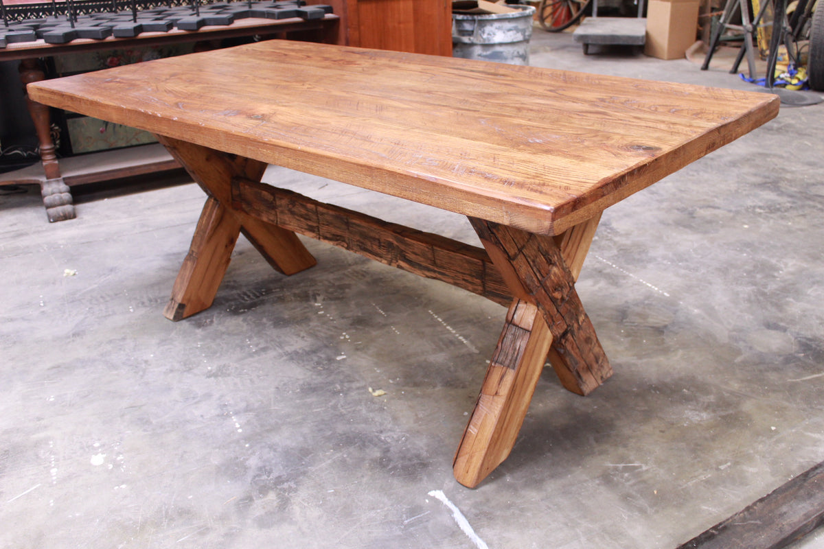 The Rustic X Farm Table