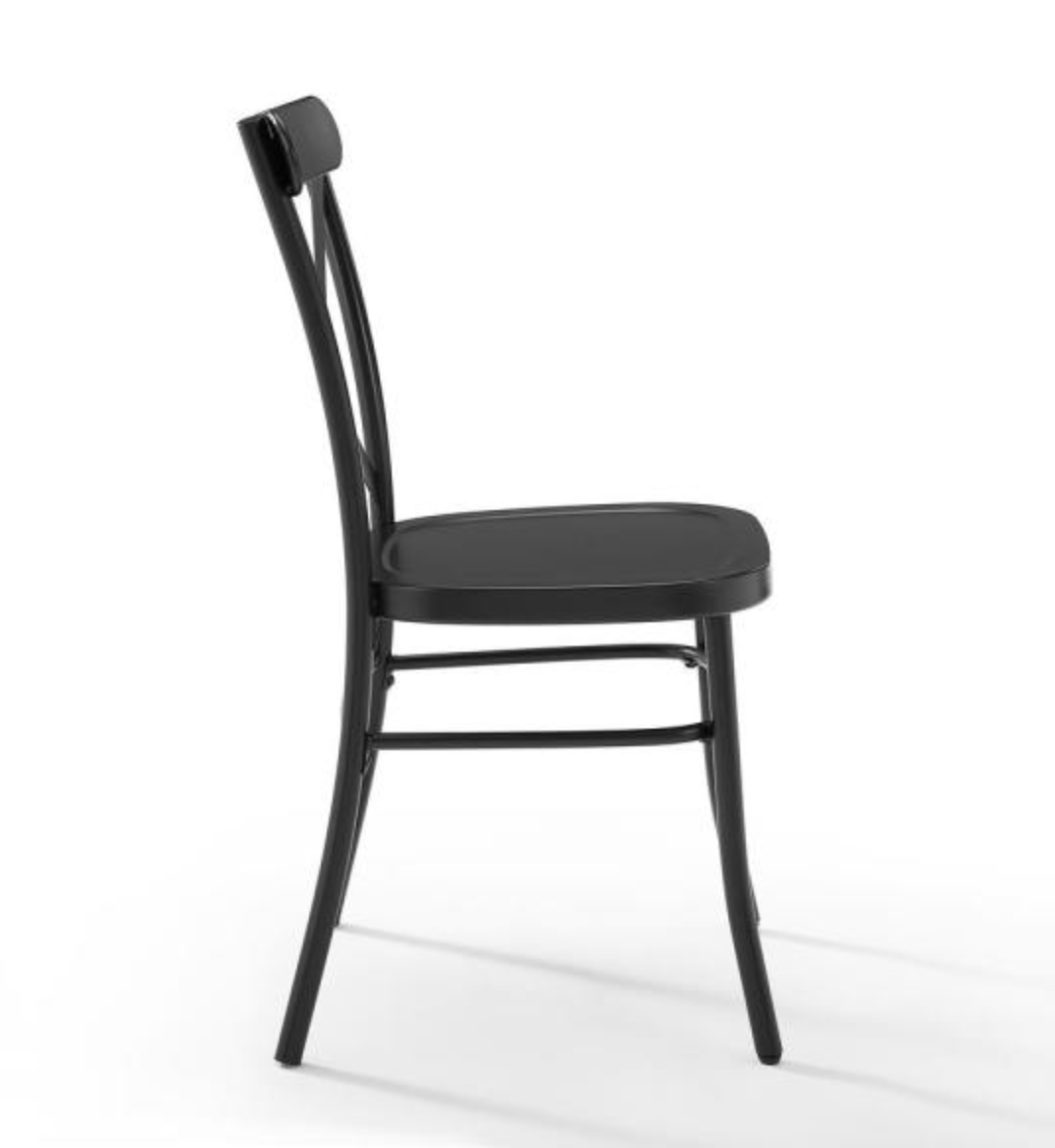 Camille Black Metal X Back Chair