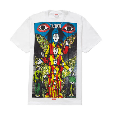 Supreme Gilbert & George LIFE Tee White