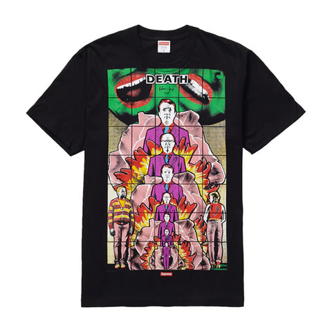 Supreme Gilbert & George DEATH Tee Black