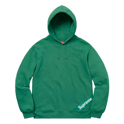 Supreme Corner Label Hooded Sweatshirt Light Pine