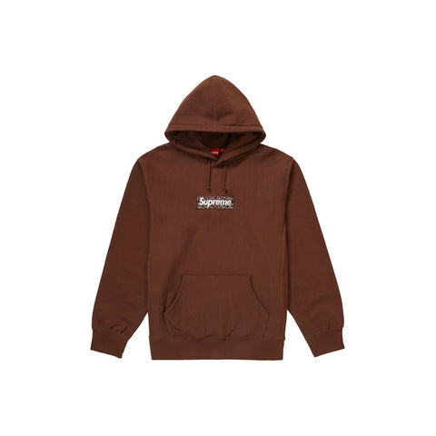 Supreme Bandana Box Logo Hooded Sweatshirt Dark Brown