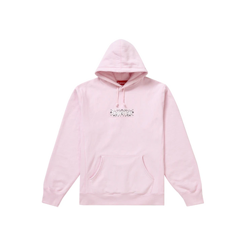 Supreme Bandana Box Logo Hooded Sweatshirt Pink