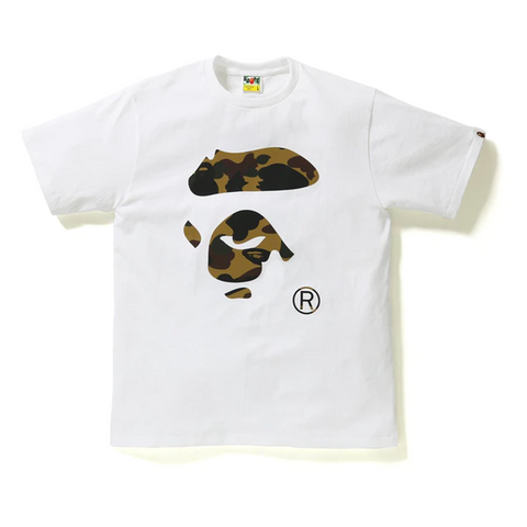 BAPE Reflector 1st Camo Ape Face Tee Tee White/Yellow
