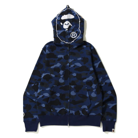 Bape Color Camo 2nd Ape Hoodie Navy