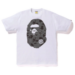 BAPE ABC Camo Big Ape Head Tee White/Black