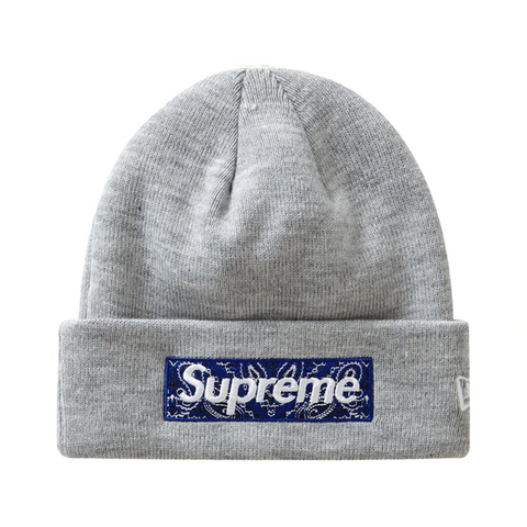 Supreme New Era Box Logo Beanie (FW19) Heather Grey