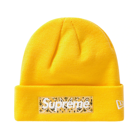 Supreme Bandana Beanie Yellow