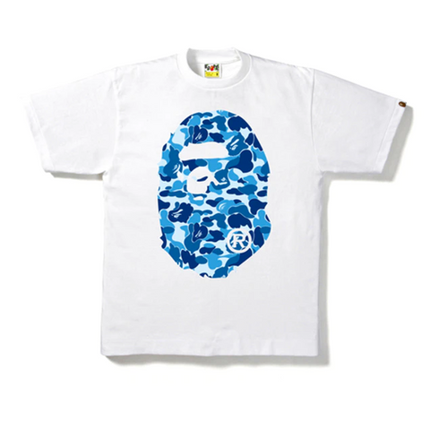 BAPE ABC Camo Big Ape Head Tee White
