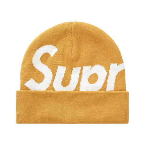 Supreme Big Logo Beanie (FW19) Dark Gold