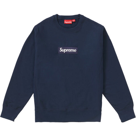 Supreme Box Logo Crewneck (FW18) Navy
