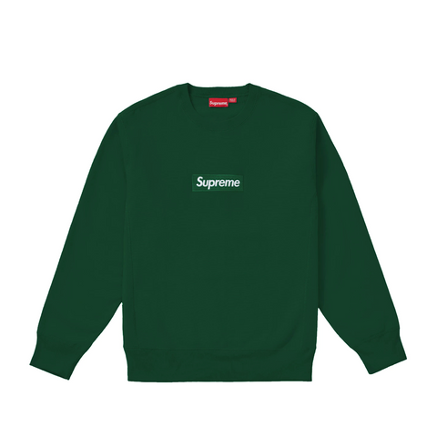 Supreme Box Logo Crewneck (FW18) Dark Green