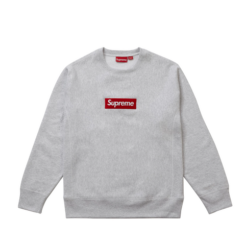 Supreme Box Logo Crewneck (FW15) Heather Grey