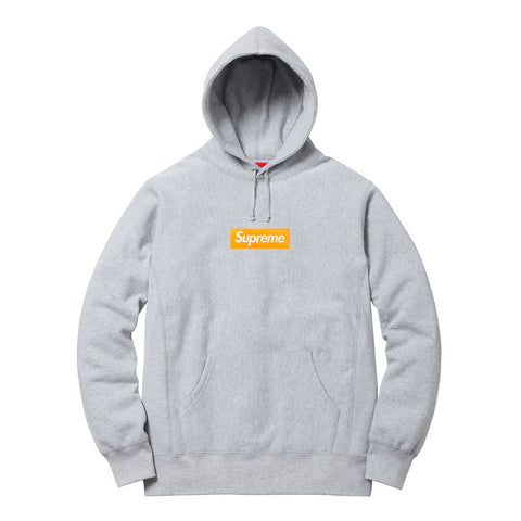 Supreme Box Logo Hooded Sweatshirt (FW17) Grey