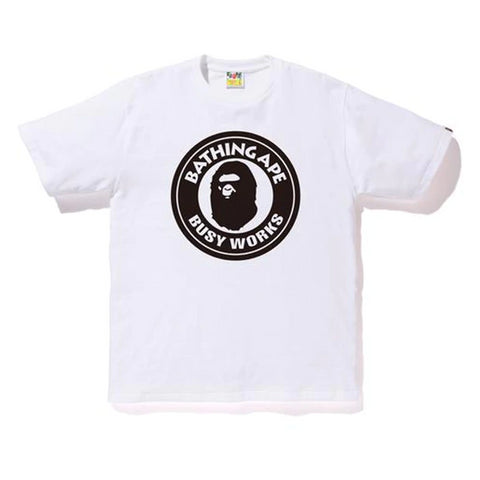 BAPE Bicolor Busyworks Tee White