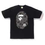 BAPE ABC Camo Big Ape Head Tee Black/Black