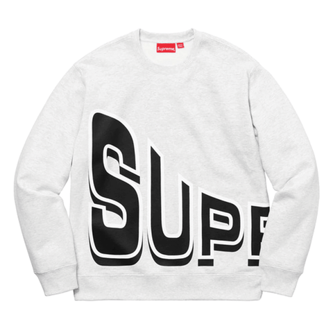 Supreme Side Arc Crewneck Ash Grey