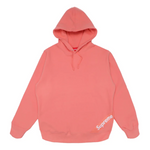 Supreme Corner Label Hooded Sweatshirt Coral