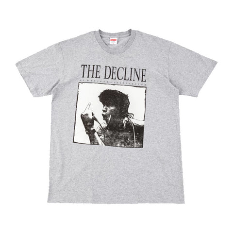 Supreme Decline of Western Civilization Tee Heather Grey