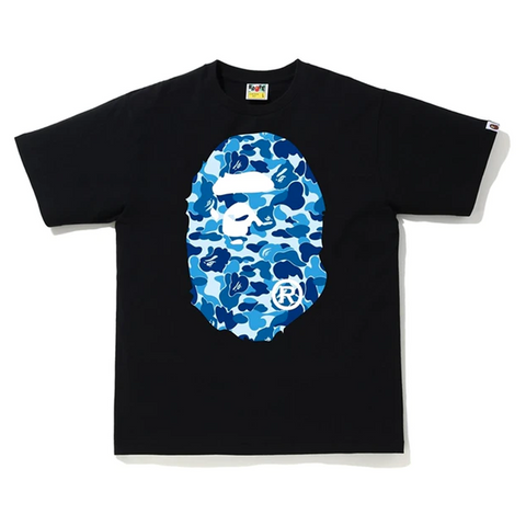 BAPE ABC Camo Big Ape Head Tee Black/Blue