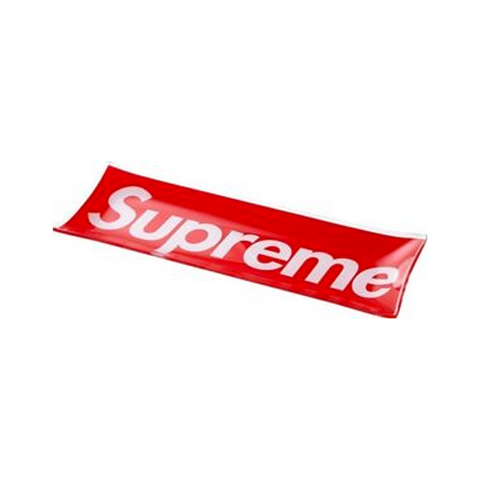 Supreme Glass Tray Red