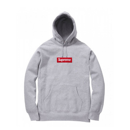 Supreme Box Logo Hooded Sweatshirt Grey