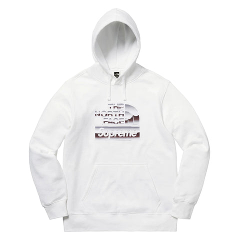 Supreme The North Face Metallic Logo Hooded Sweatshirt White
