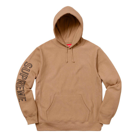 Supreme Sleeve Embroidery Hooded Sweatshirt