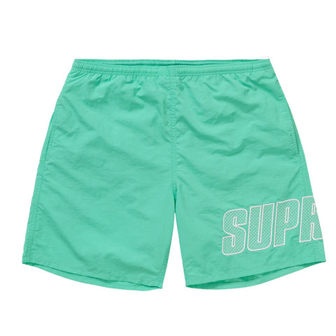 Supreme Logo Applique Water Short Mint