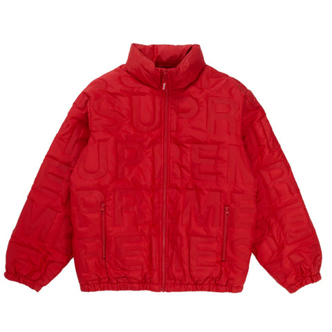 Supreme Bonded Logo Down Jacket Red