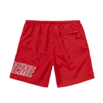Supreme Logo Applique Water Short Red