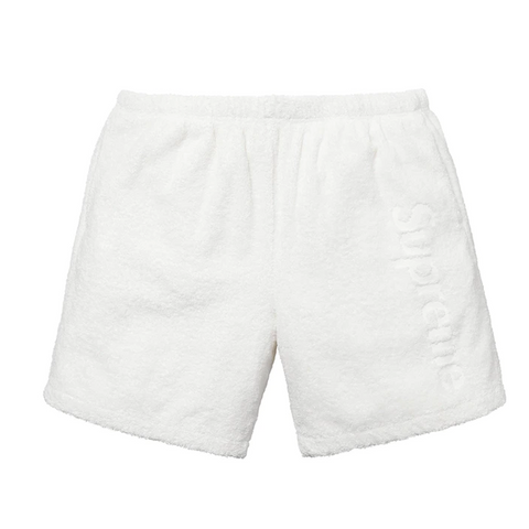 Supreme Terry Logo Short White