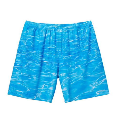 Supreme Ripple Shorts Blue