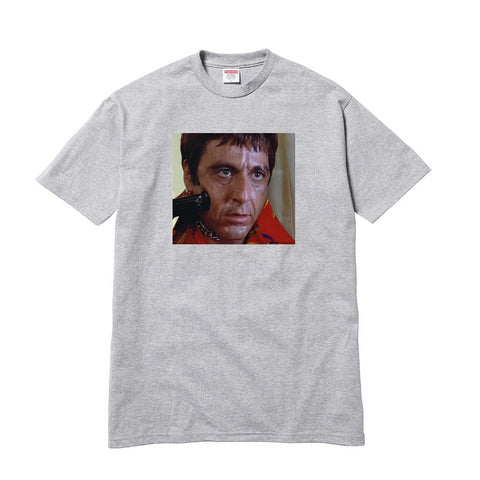 Supreme Scarface Shower Tee Heather Grey