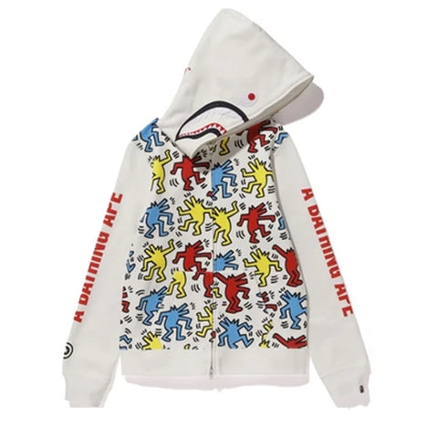 BAPE X Keith Haring Shark Full Zip Hoodie