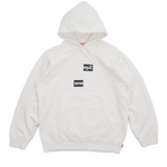 Supreme Comme des Garcons SHIRT Split Box Logo Hooded Sweatshirt White