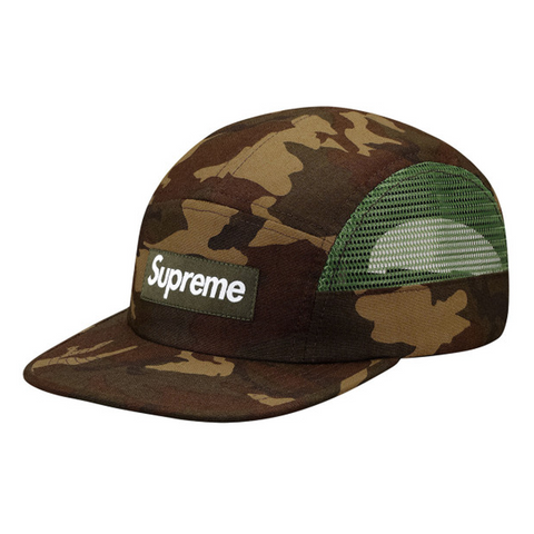 Supreme Mesh Side Panel Camp Cap Camo