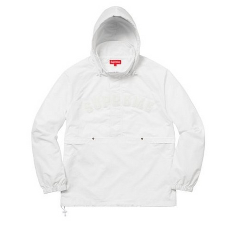 Supreme Court Half Zip Pullover White
