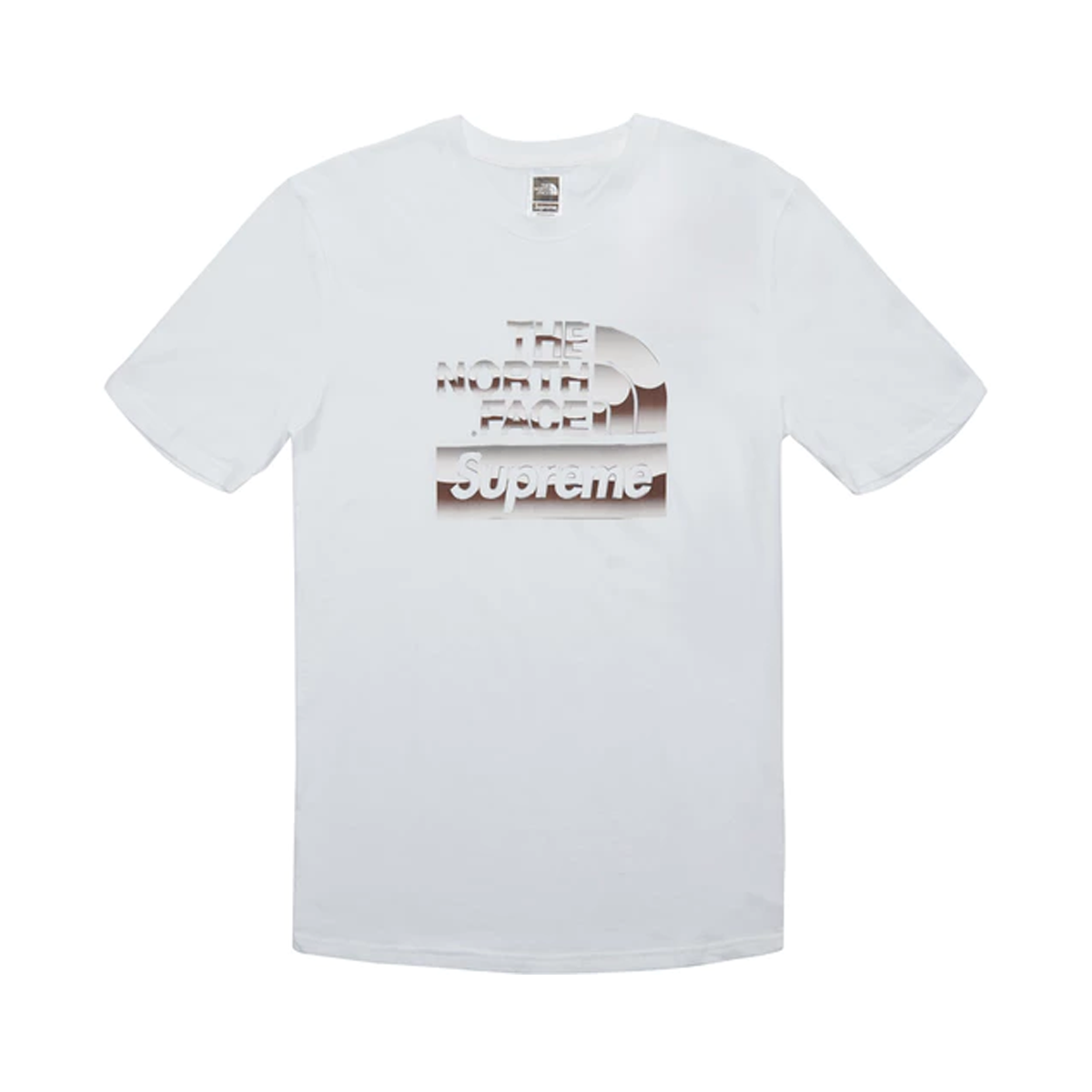 050f25f674 Supreme The North Face Metallic Logo T-Shirt White – afterdrop