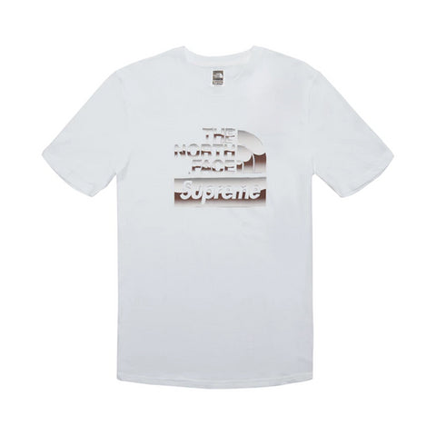 Supreme The North Face Metallic Logo T-Shirt White