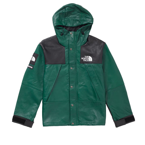 Supreme The North Face Leather Mountain Parka Dark Green